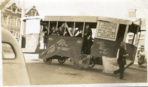 "A ""tram"" from a late 1940s procession. Photograph courtesy of Arthur Campbell."