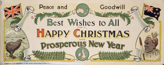 Chromolithograph published by  A R Hornblow & Son, Wellington, c.1920. Image courtesy of the Alexander Turnbull Library, ref Eph-D-CHRISTMAS-1920-01.