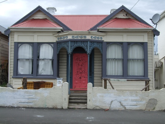The Pink Flat, after its door was repainted in 2004. Image courtesy of Sarah Gallagher.