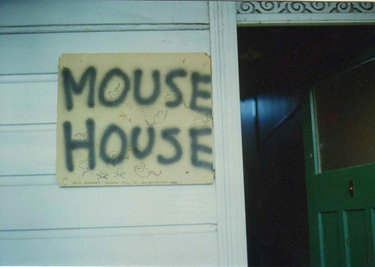 The Mouse House, photographed in 1991. Image courtesy of Sarah Gallagher.