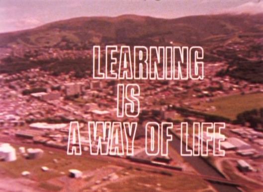 A screenshot from the film 'Learning is a way of life,' courtesy of the Hocken Collections, University of Otago Higher Education Development Centre films, MS-4104/003. Copyright University of Otago.
